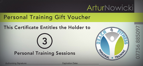 personal training gift voucher reach4fitness personal training